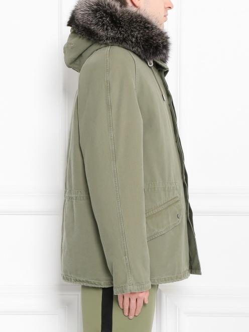 Куртка из хлопка с меховой подкладкой Yves Salomon - Модель Верх-Низ2