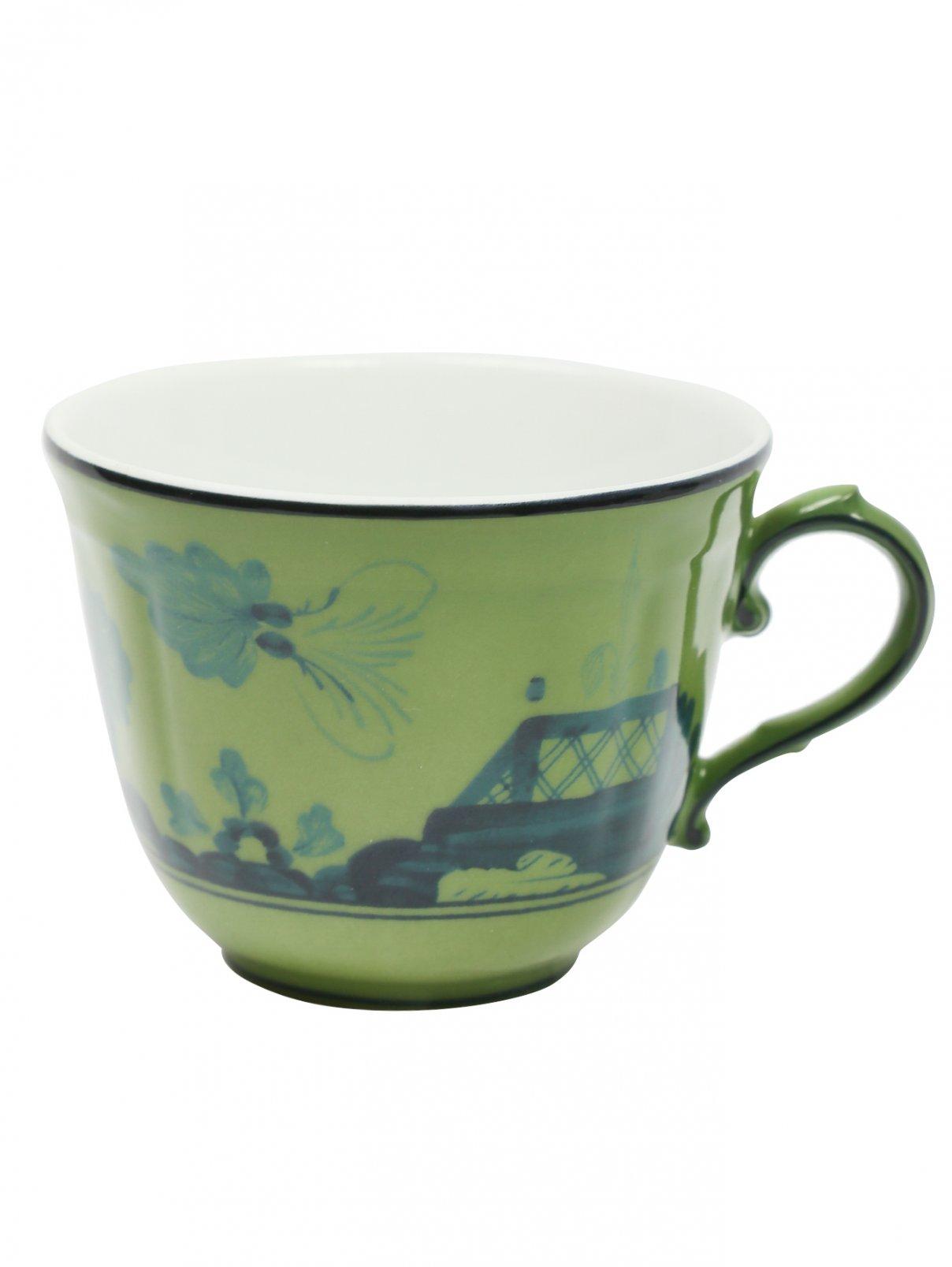 Чашка для кофе из фарфора с узором и окантовкой Richard Ginori 1735  –  Общий вид