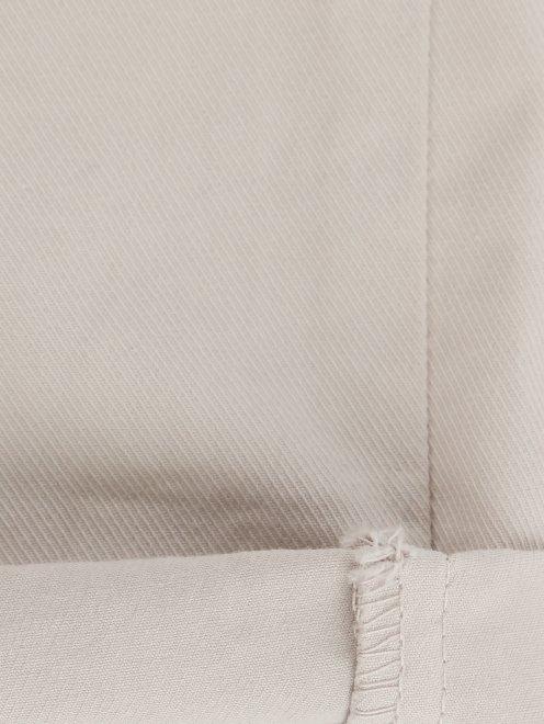 Брюки из хлопка с поясом-резинкой - Деталь2