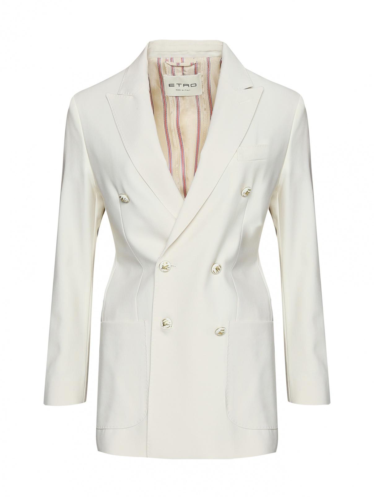 Жакет из шерсти с накладными карманами Etro  –  Общий вид