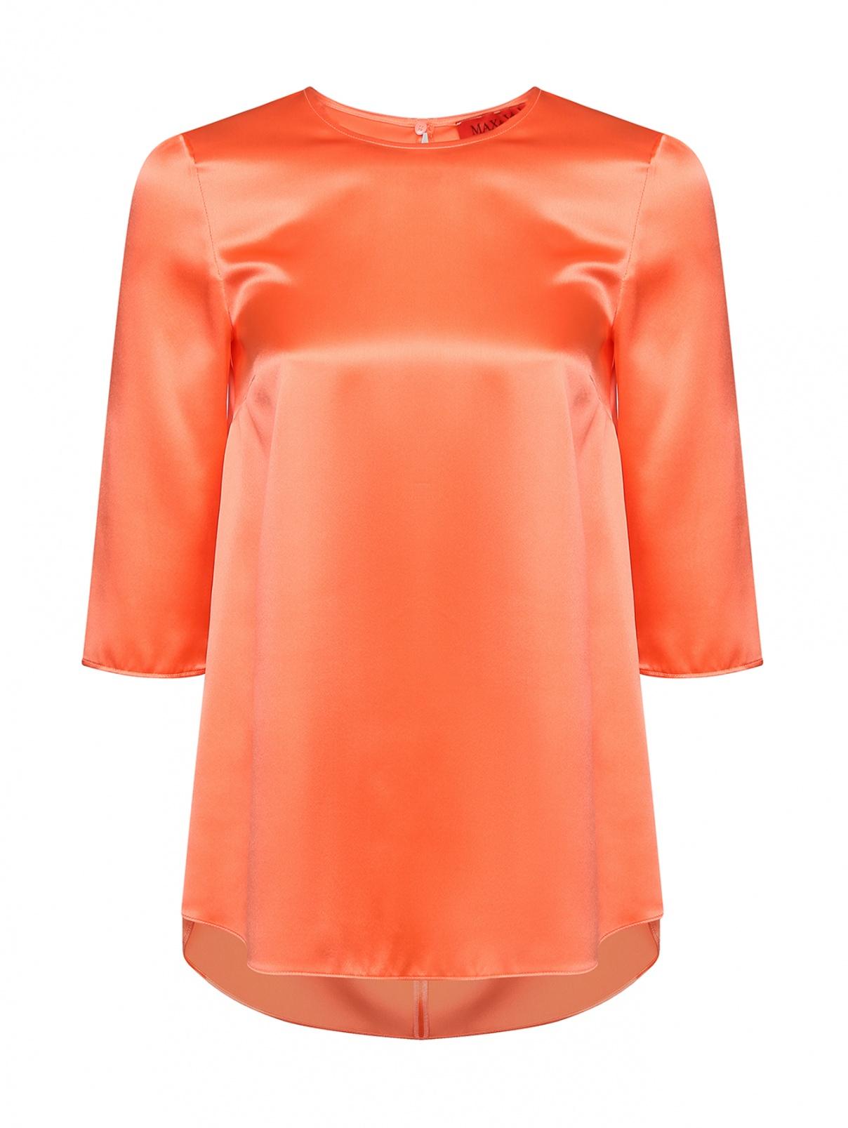 Блуза шелковая прямого кроя Max&Co  –  Общий вид