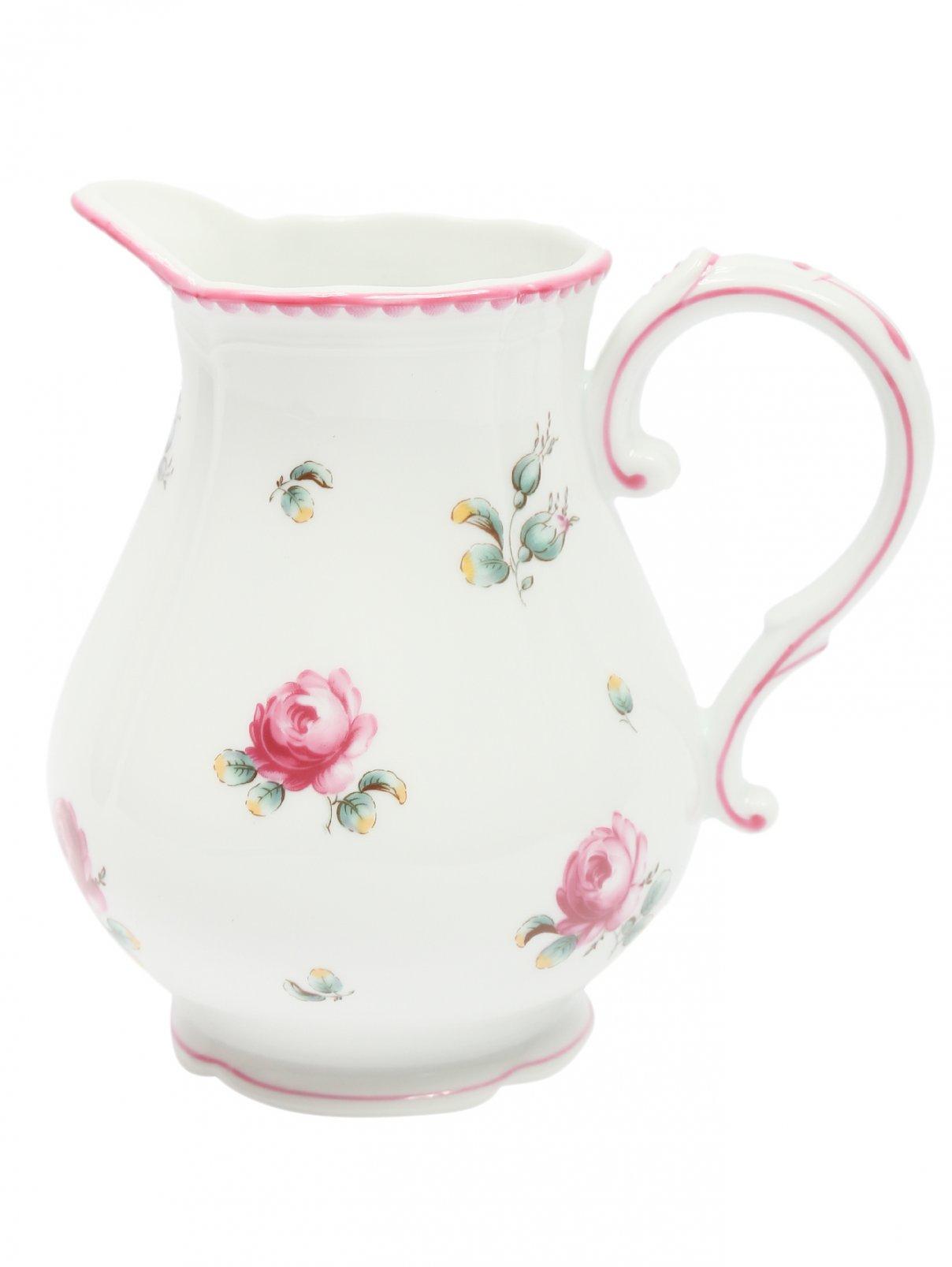 Молочник с цветочным узором и фигурной окантовкой Richard Ginori 1735  –  Общий вид