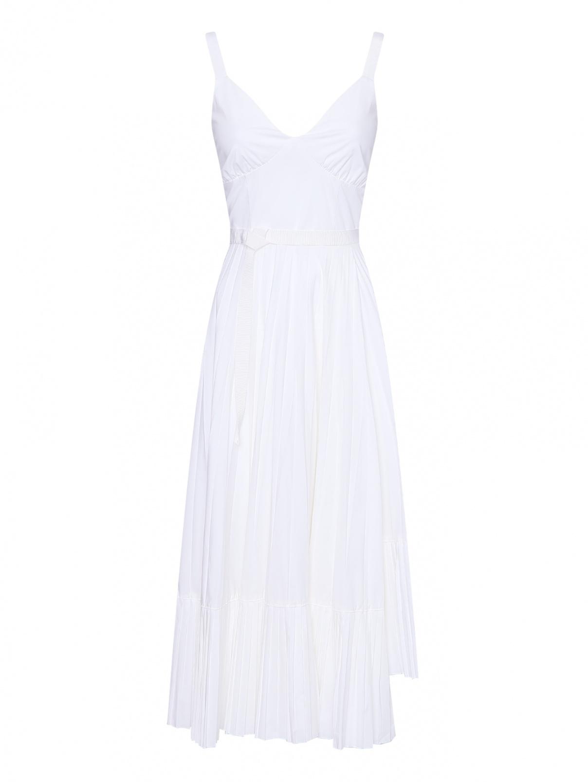 Платье из хлопка с юбкой плиссе Beatrice  –  Общий вид