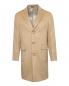 Пальто однобортное из шерсти Brooks Brothers  –  Общий вид