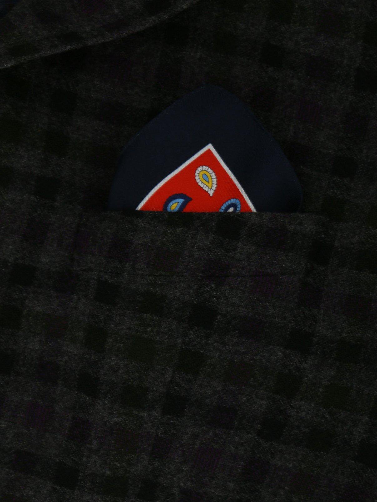 Платок из шелка с узором Hugo Boss  –  Модель Общий вид