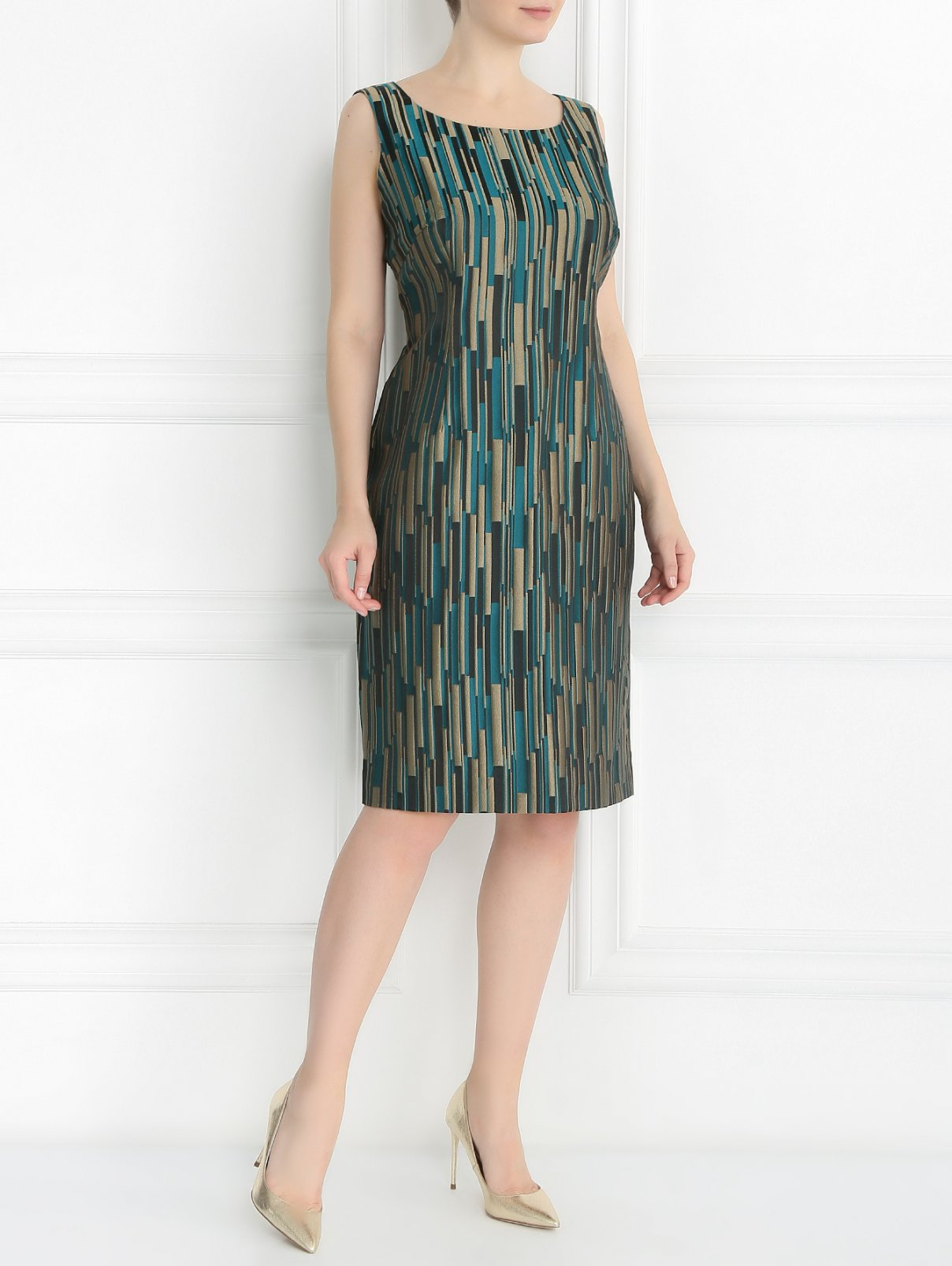 Платье-футляр с узором Marina Rinaldi  –  Модель Общий вид