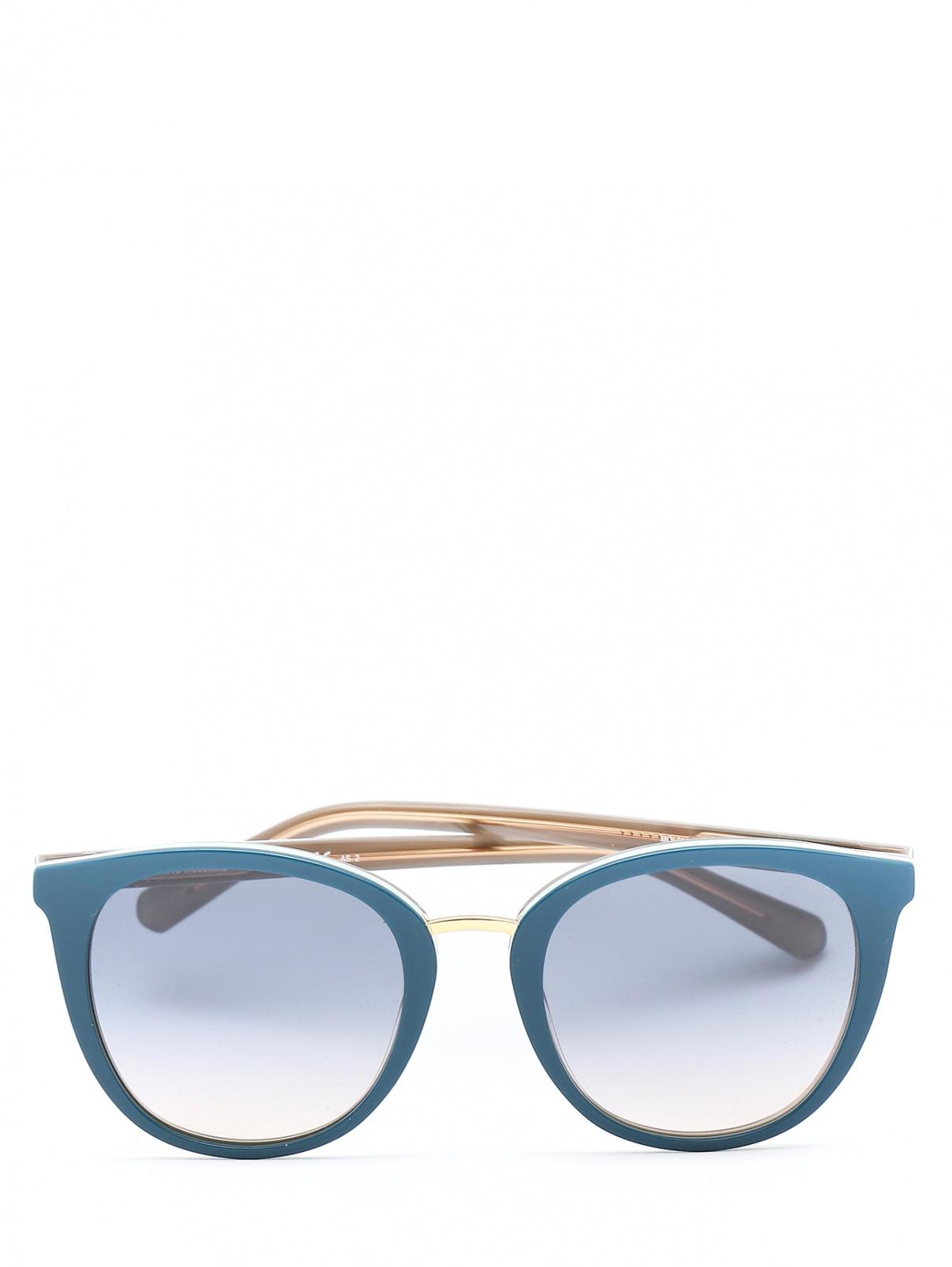 Солнцезащитные очки в пластиковой оправе Moschino  –  Общий вид