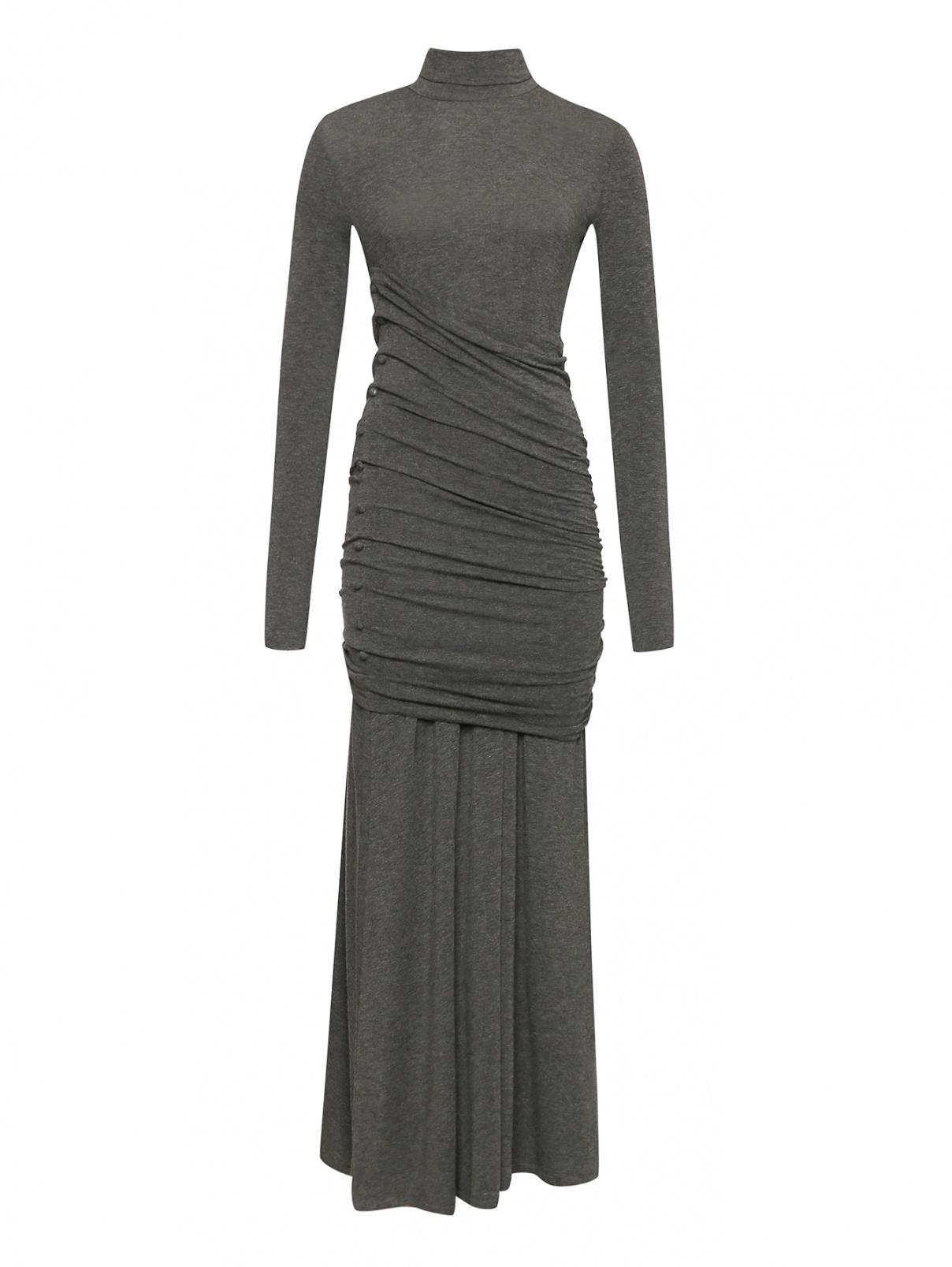 Платье-макси из смешанной вискозы с драпировкой Sportmax  –  Общий вид