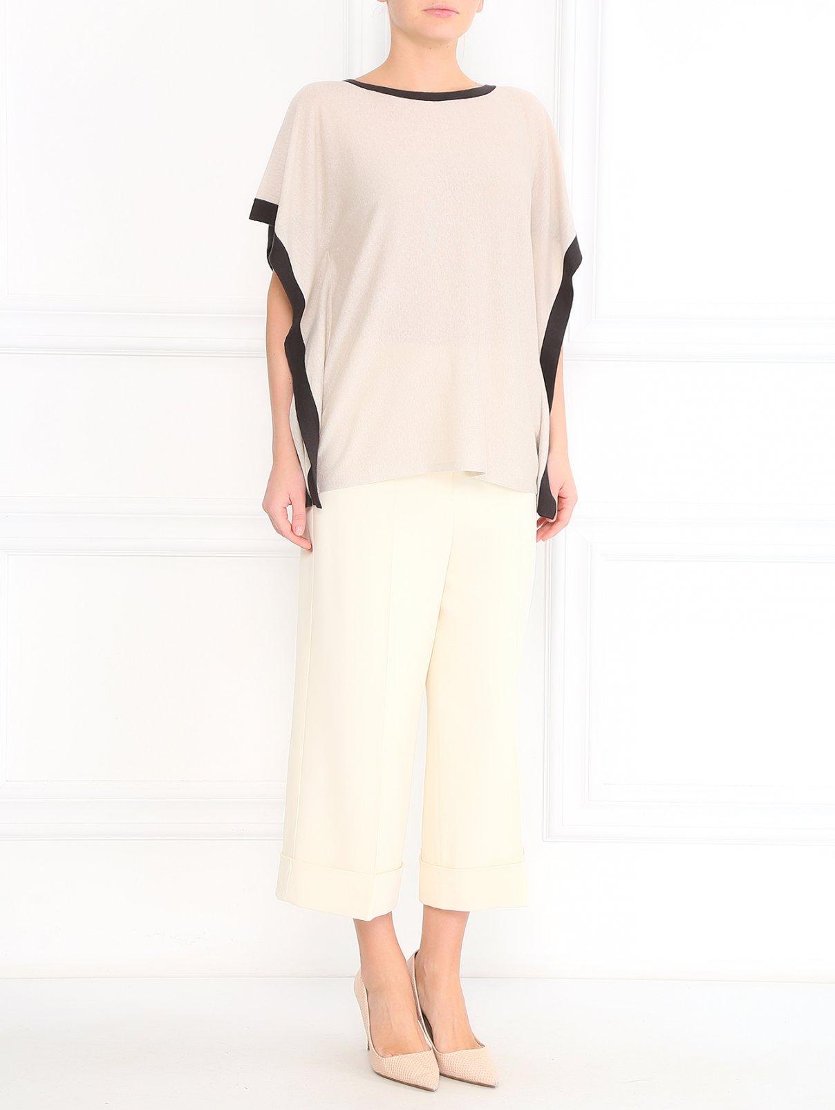 Укороченные брюки широкого кроя Sportmax  –  Модель Общий вид