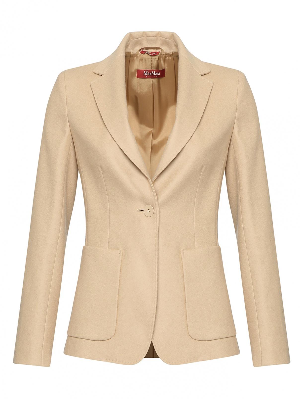 Жакет шерстяной с накладными карманами Max Mara  –  Общий вид