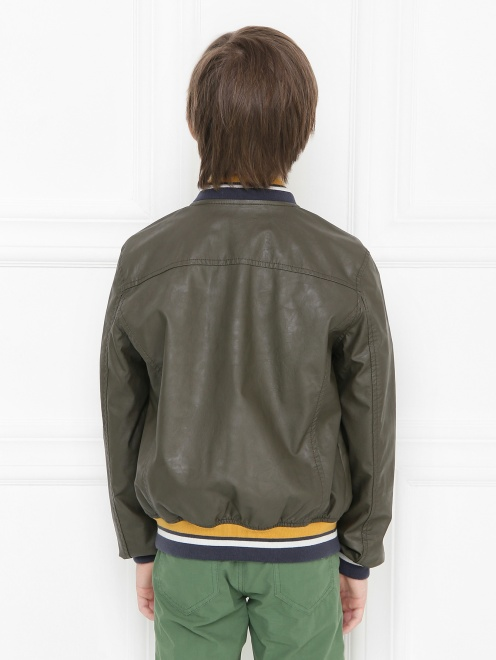 Куртка байкерская из экокожи Freedomday - МодельВерхНиз1