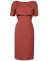 Платье из шерсти с накидкой Alberta Ferretti  –  Общий вид