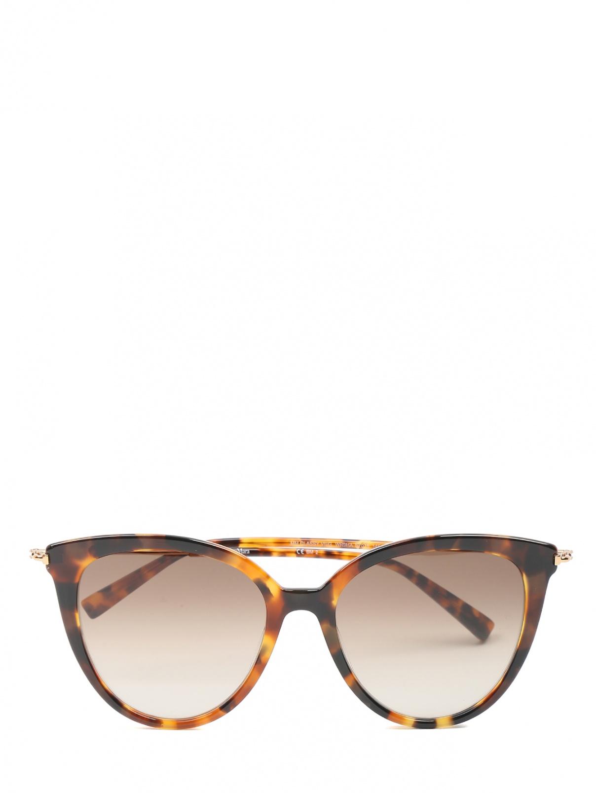 Очки солнцезащитные в роговой оправе Max Mara  –  Общий вид
