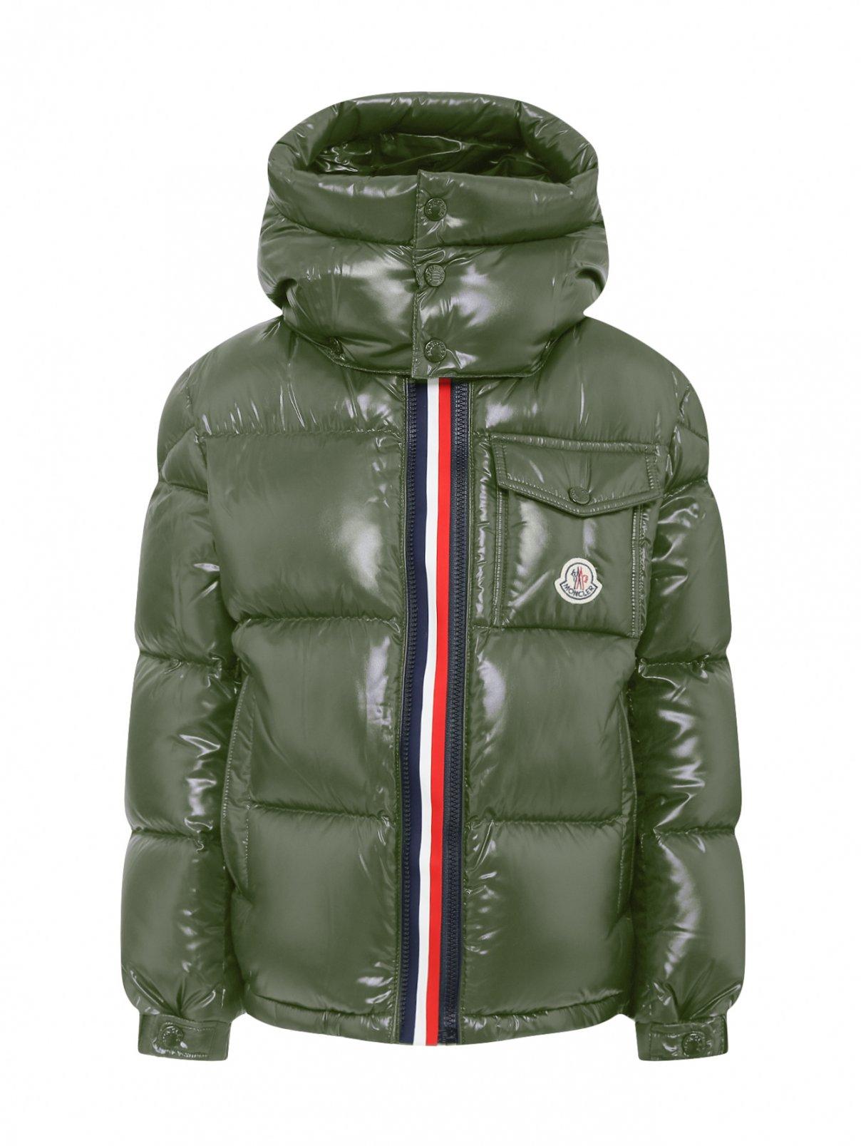 Куртка пуховая с двойной молнией Moncler  –  Общий вид