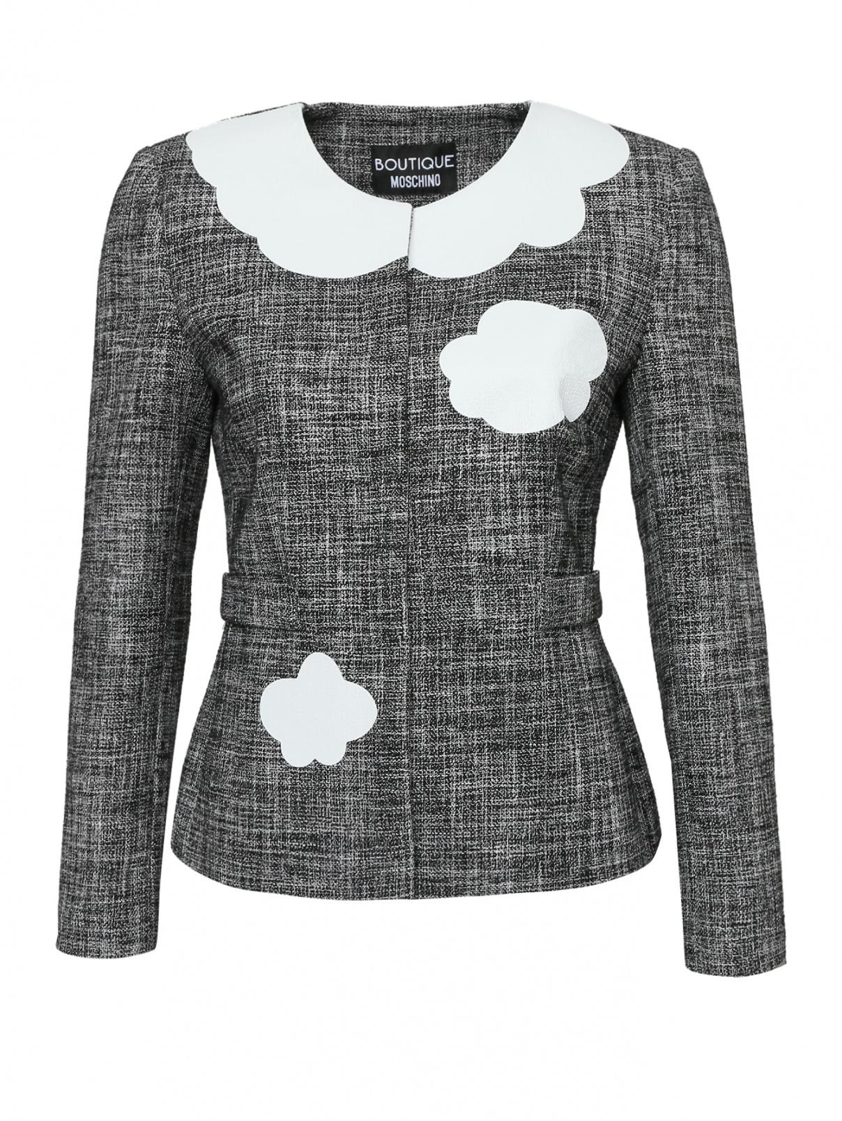 Жакет на кнопках из хлопка, с принтом Moschino Boutique  –  Общий вид