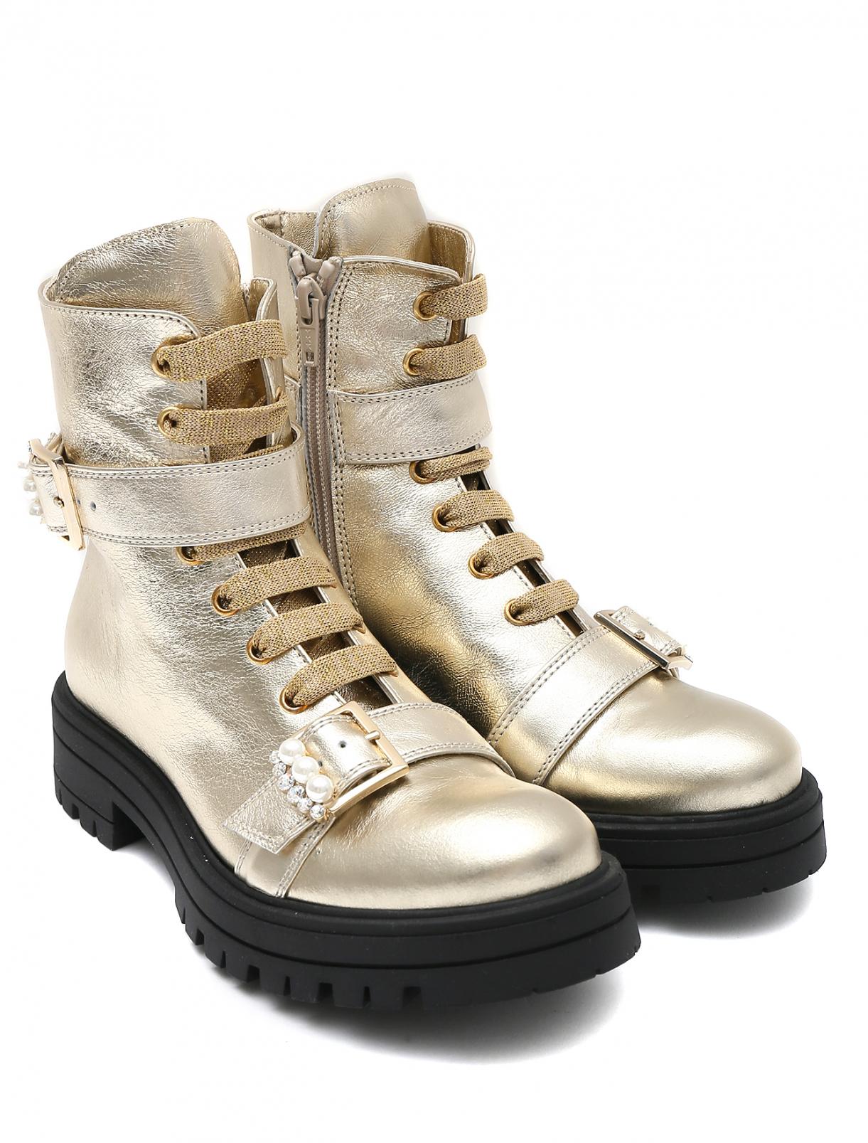 Ботинки из кожи на рифленой подошве Mi Mi Sol  –  Общий вид
