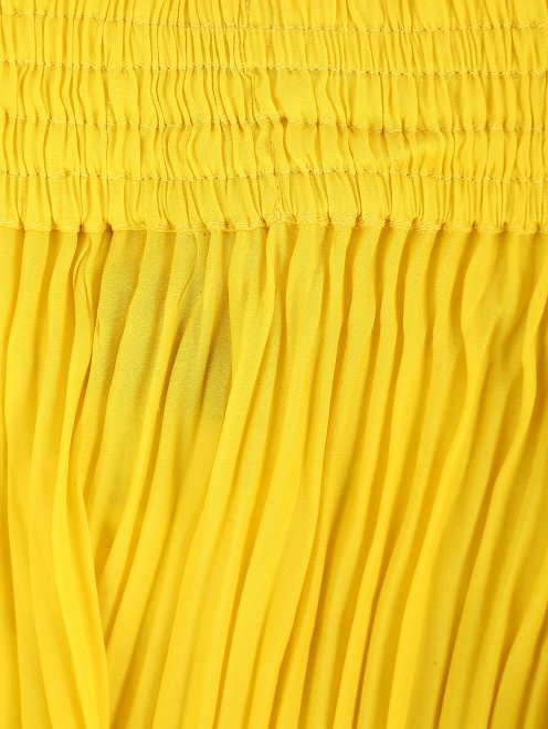 Плиссированные брюки свободного кроя - Деталь