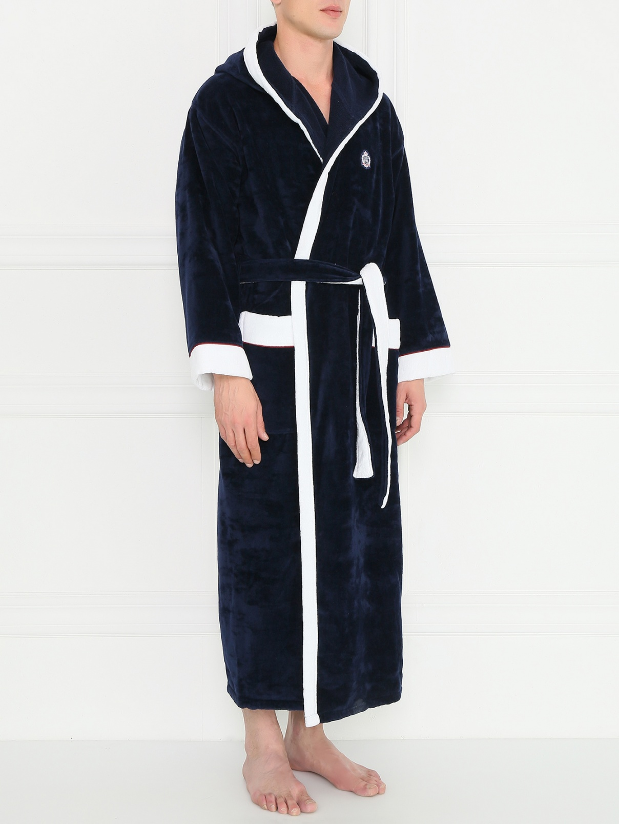 Халат из хлопка с вышивкой Corneliani  –  Модель Общий вид