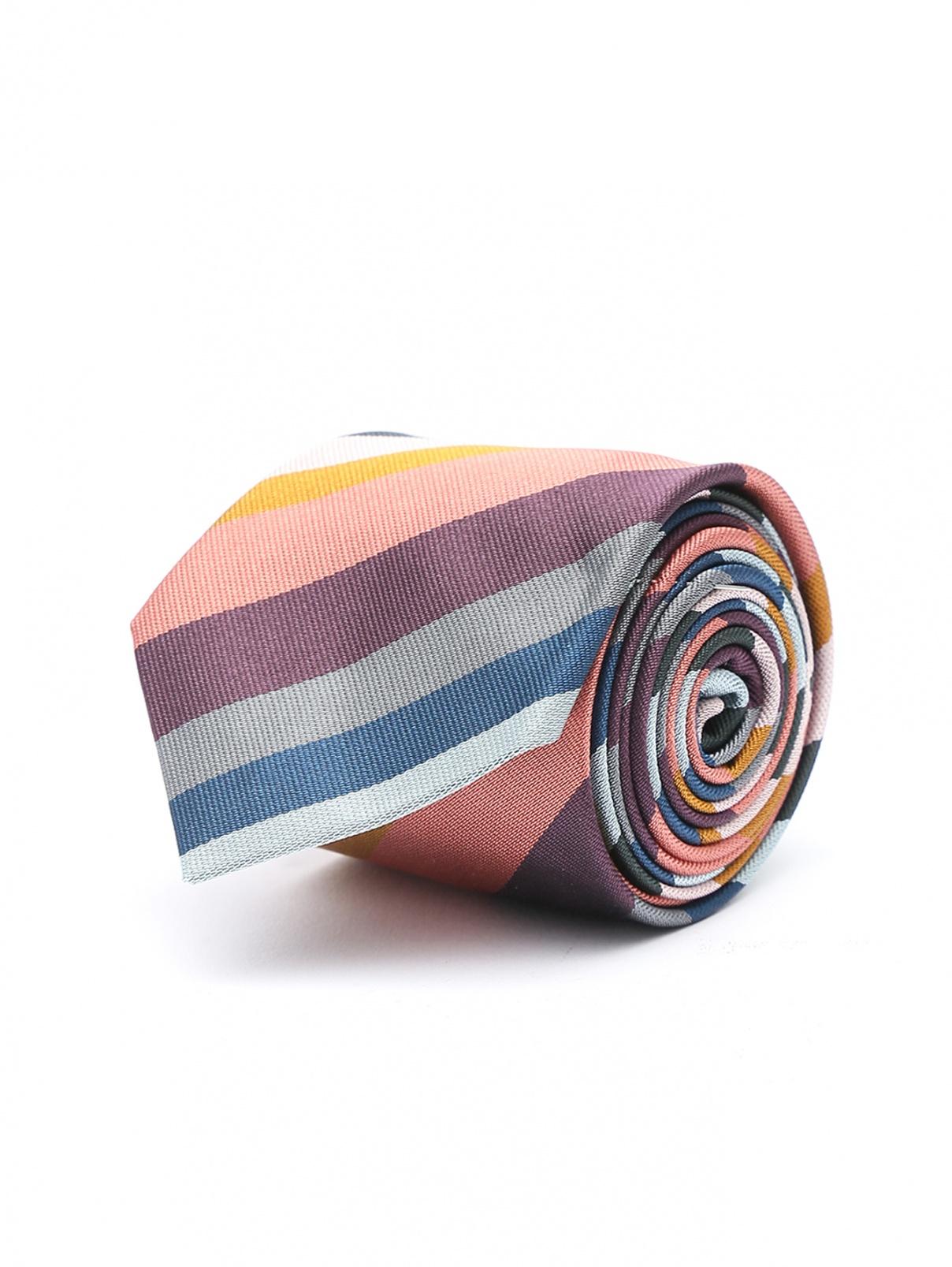 Галстук из шелка с узором полоска Paul Smith  –  Общий вид