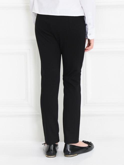 Трикотажные брюки с декоративной пряжкой - Модель Верх-Низ1