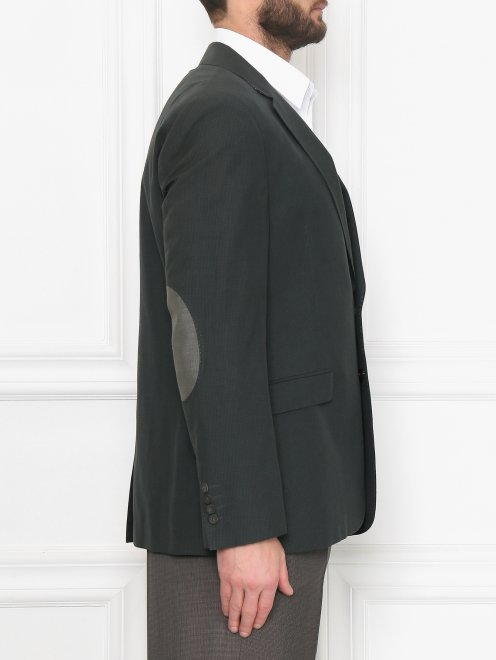 Пиджак из хлопка и льна - МодельВерхНиз2