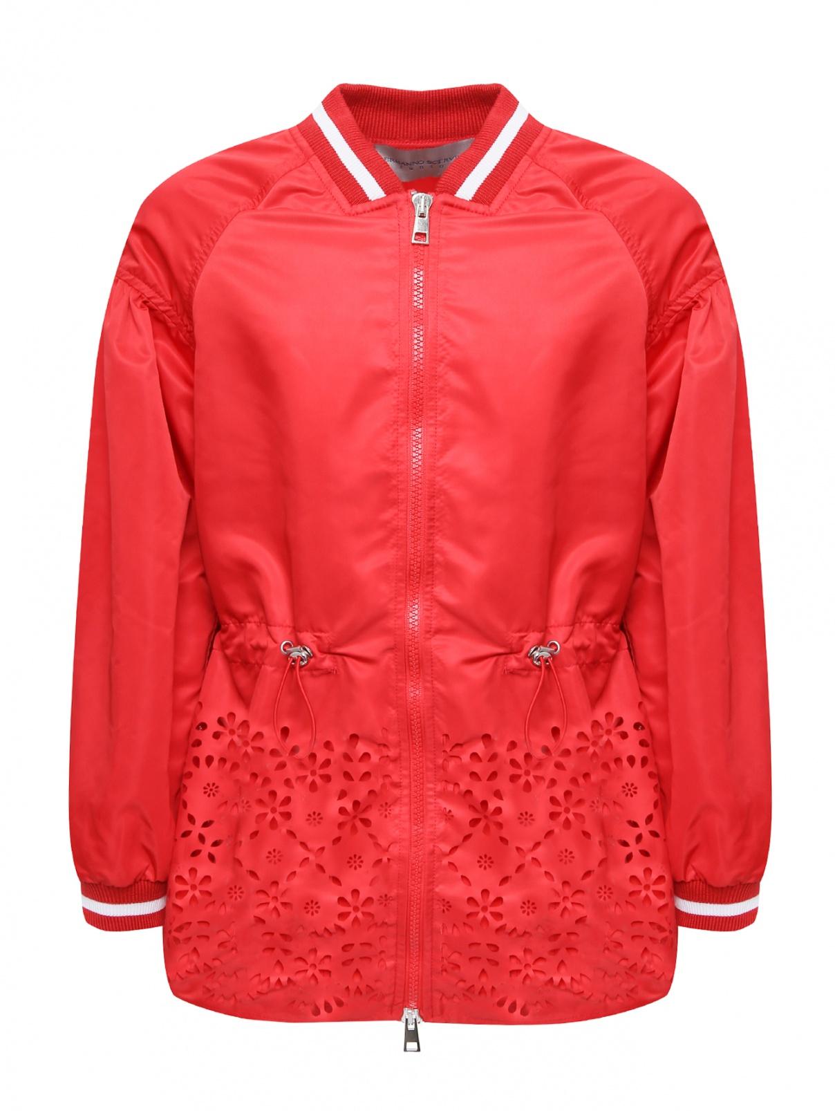 Куртка ветрозащитная с ажурным низом Ermanno Scervino Junior  –  Общий вид