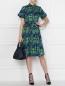 Платье-миди из хлопка с узором Brooks Brothers  –  МодельОбщийВид