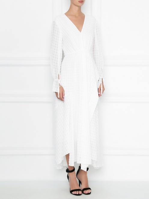 Платье-миди свободного кроя 3.1 Phillip Lim - МодельВерхНиз