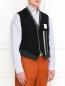 Жилет из тонкой шерсти с контрастной вставкой Antonio Marras  –  Модель Верх-Низ