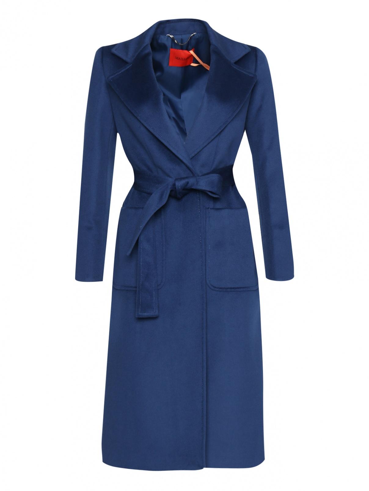 Пальто из шерсти с поясом Max&Co  –  Общий вид