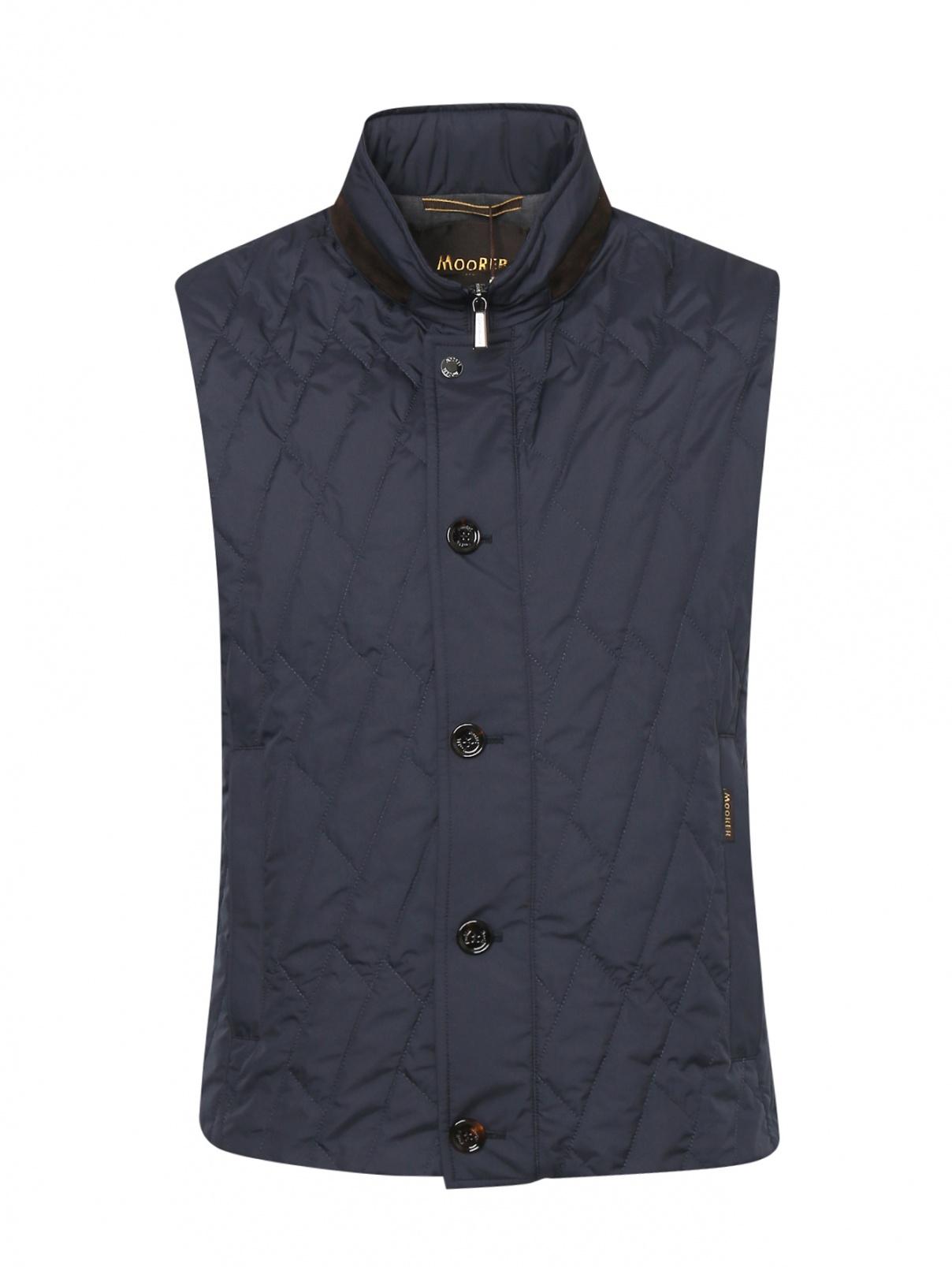 Стеганый жилет с карманами Moorer  –  Общий вид