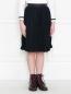 Юбка плиссированная из смессовой шерсти Aletta Couture  –  МодельВерхНиз