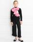 Легкий шарф из хлопка с декоративными цветами IL Trenino  –  Модель Общий вид