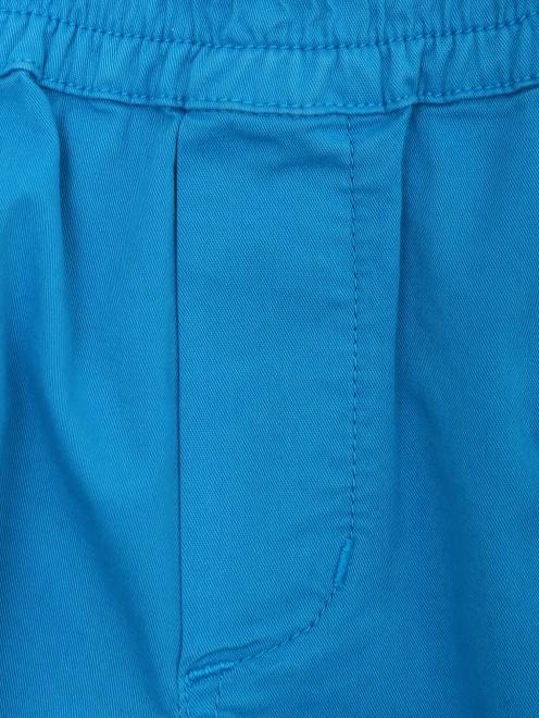Шорты из плотного хлопка с карманами Paul Smith Junior - Деталь1