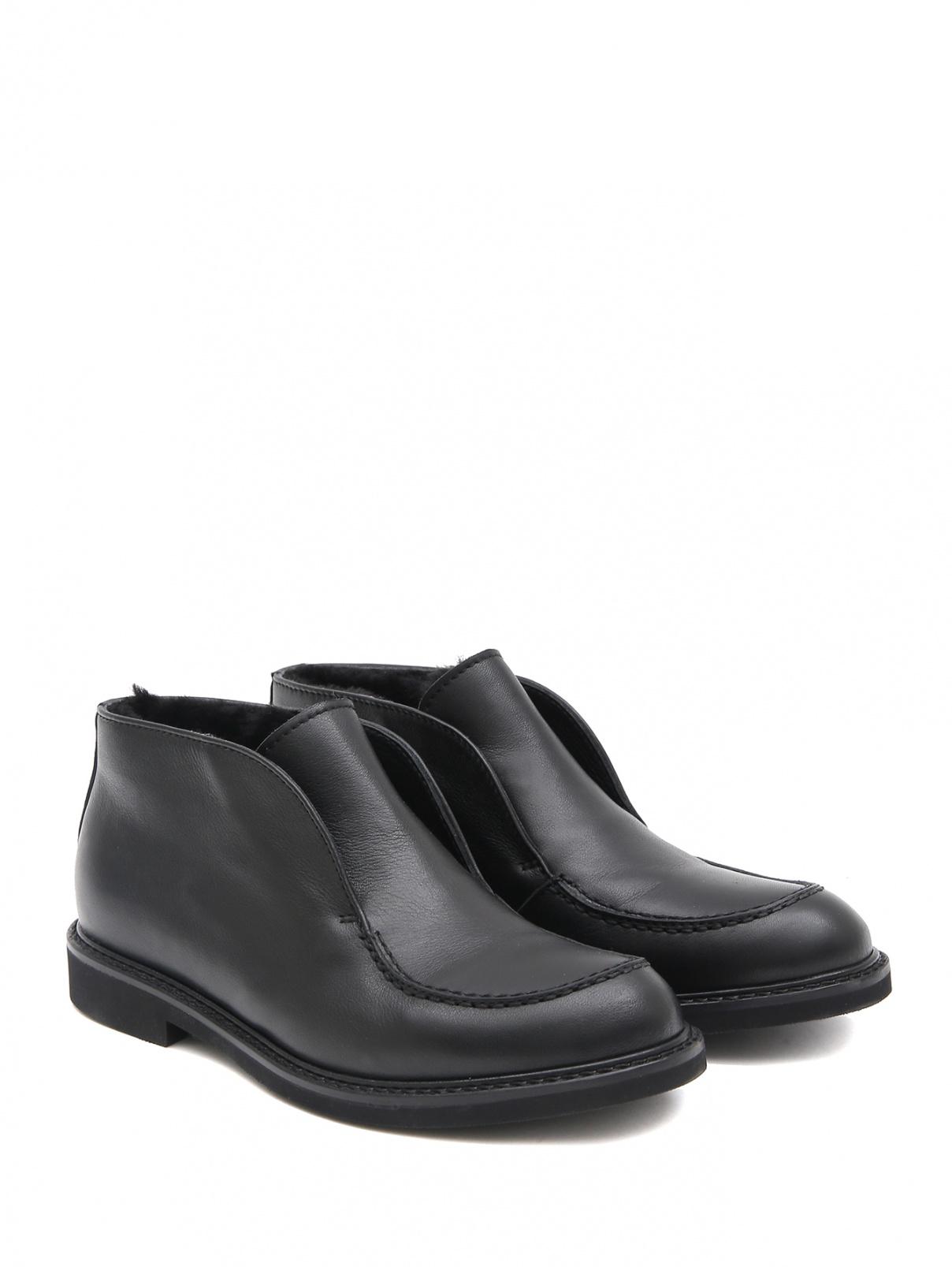 Кожаные ботинки с мехом MONTELPARE TRADITION  –  Общий вид