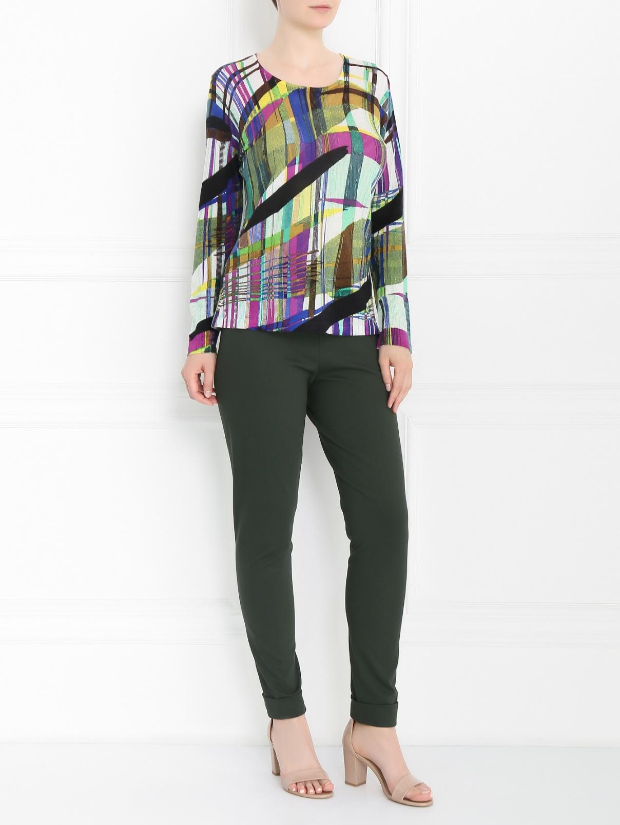 Джемпер из шерсти с абстрактным узором Marina Rinaldi  –  Модель Общий вид