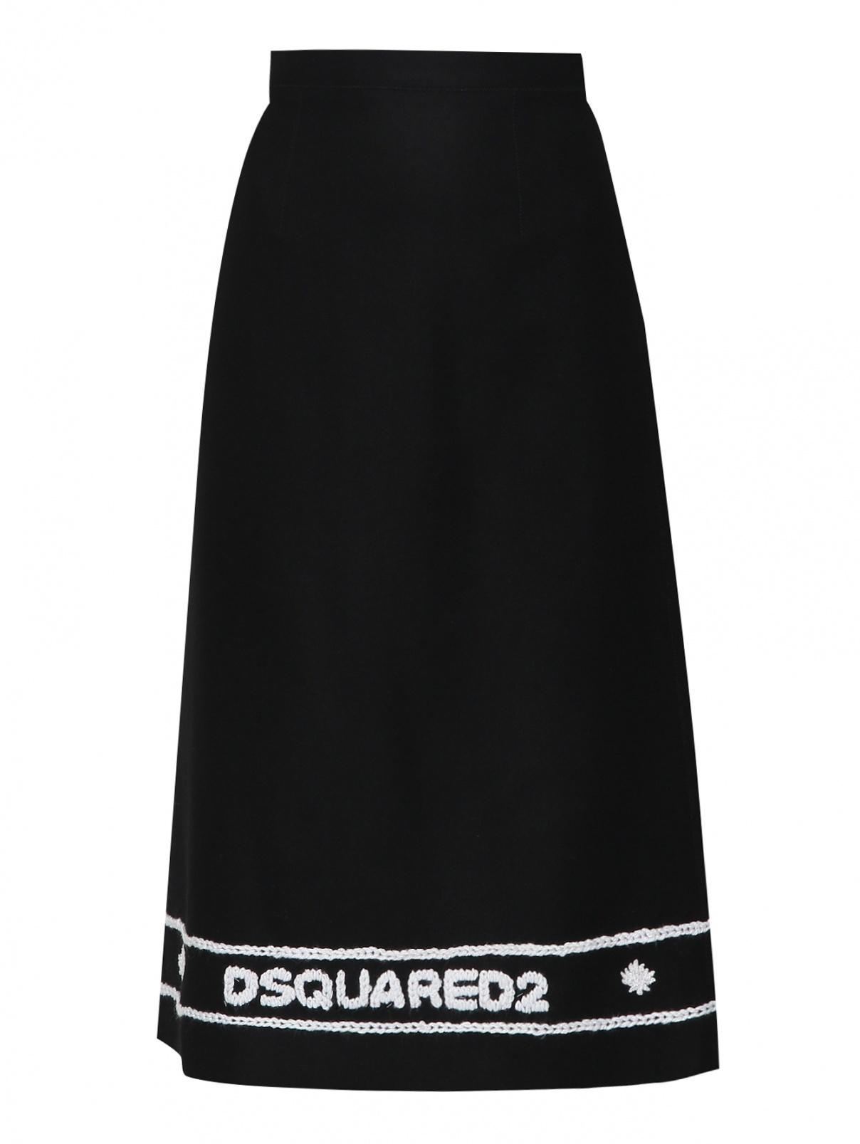Юбка из шерсти с вышивкой Dsquared2  –  Общий вид