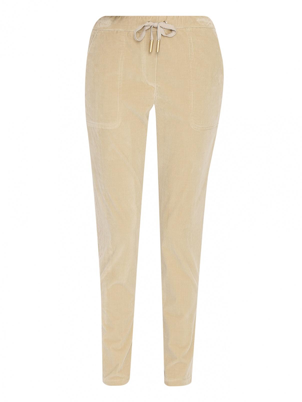 Вельветовые брюки на резинке с карманами Lorena Antoniazzi  –  Общий вид