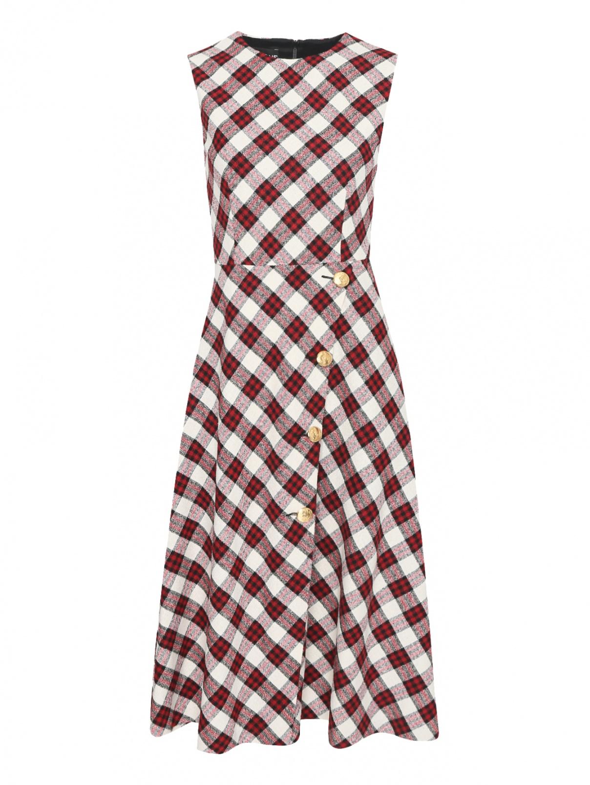Платье-миди из смешанной шерсти с узором Moschino Boutique  –  Общий вид