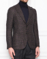 Пиджак из шерсти и шелка с узором LARDINI  –  МодельВерхНиз