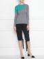 Джемпер из хлопка и шелка с круглым вырезом Sonia By Sonia Rykiel  –  МодельОбщийВид