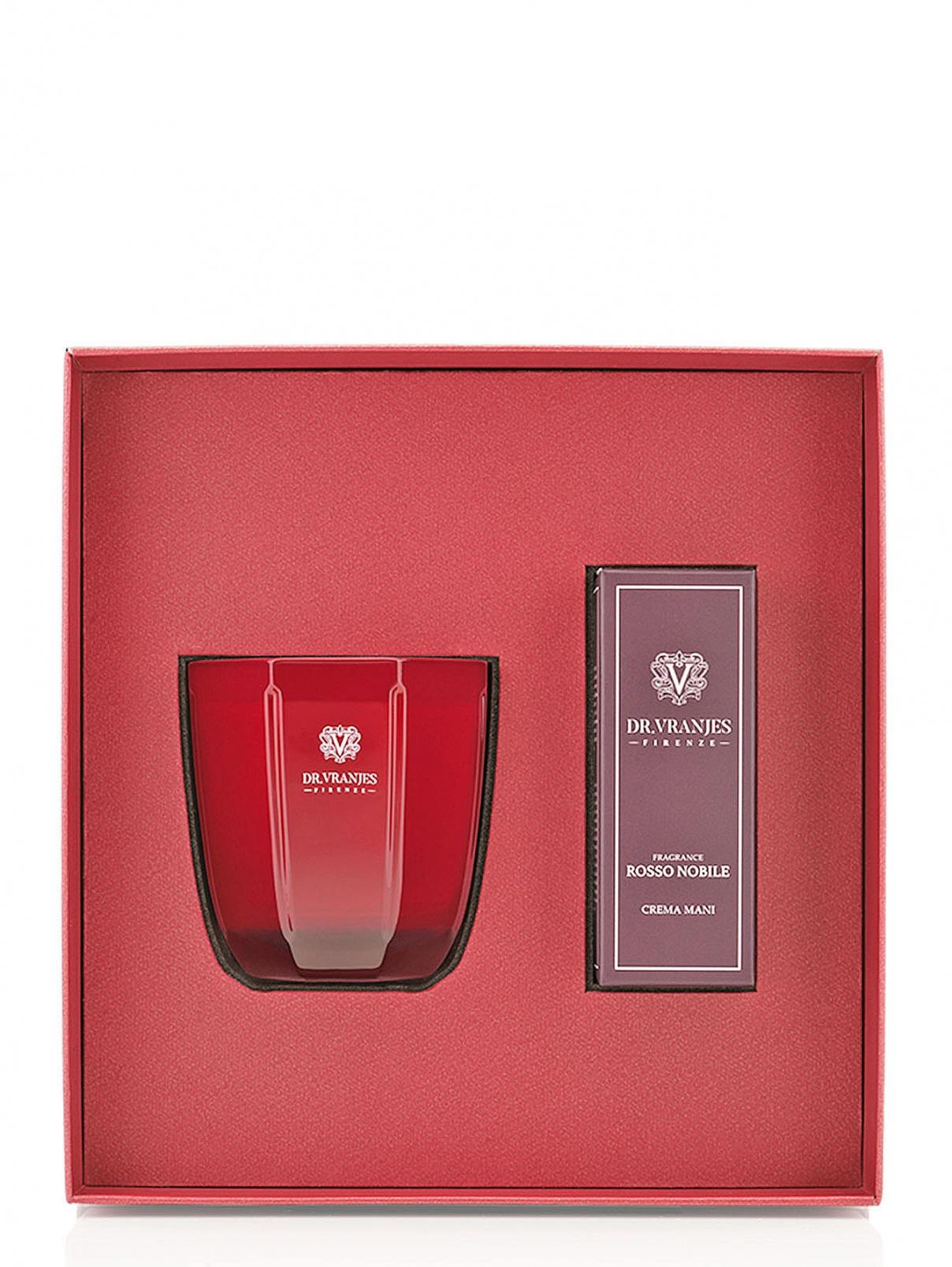 Набор свеча 200 г и крем для рук Rosso Nobile Home Fragrance Dr. Vranjes  –  Общий вид