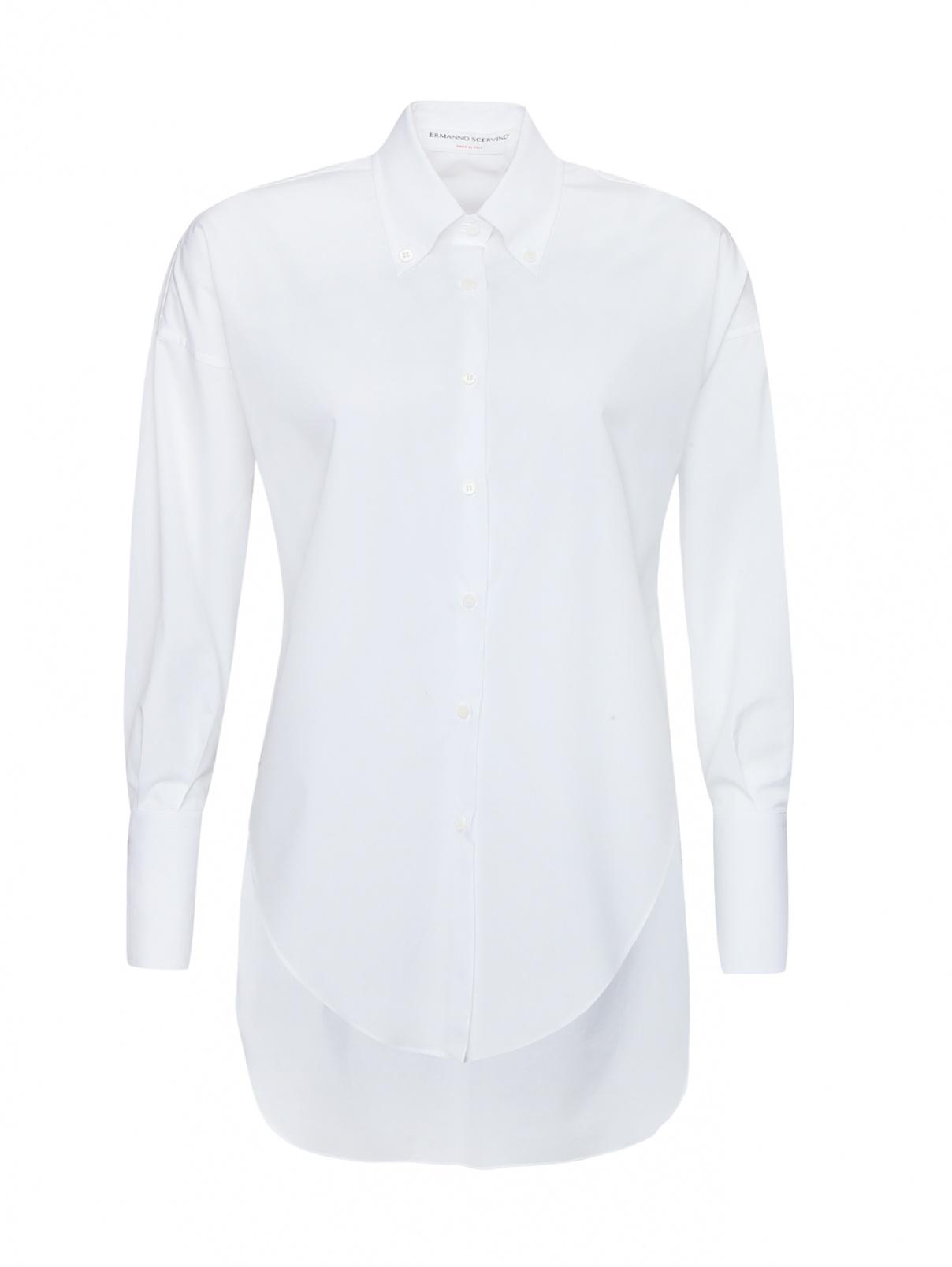 Блуза из хлопка с вырезами сбоку Ermanno Scervino  –  Общий вид