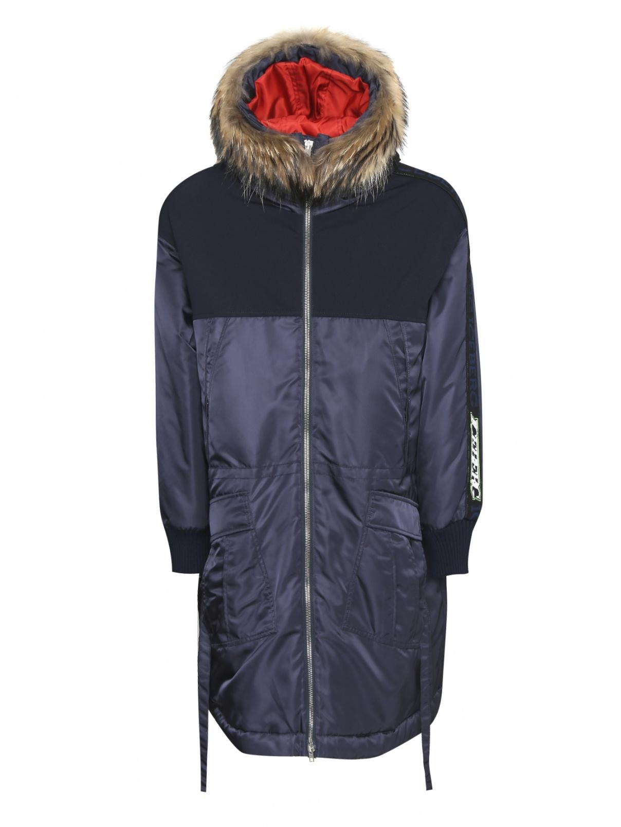 Парка пуховая на молнии с капюшоном ICEBERG  –  Общий вид