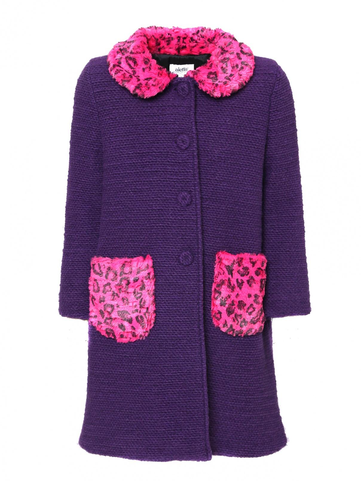 Пальто на пуговицах с накладными карманами Aletta  –  Общий вид