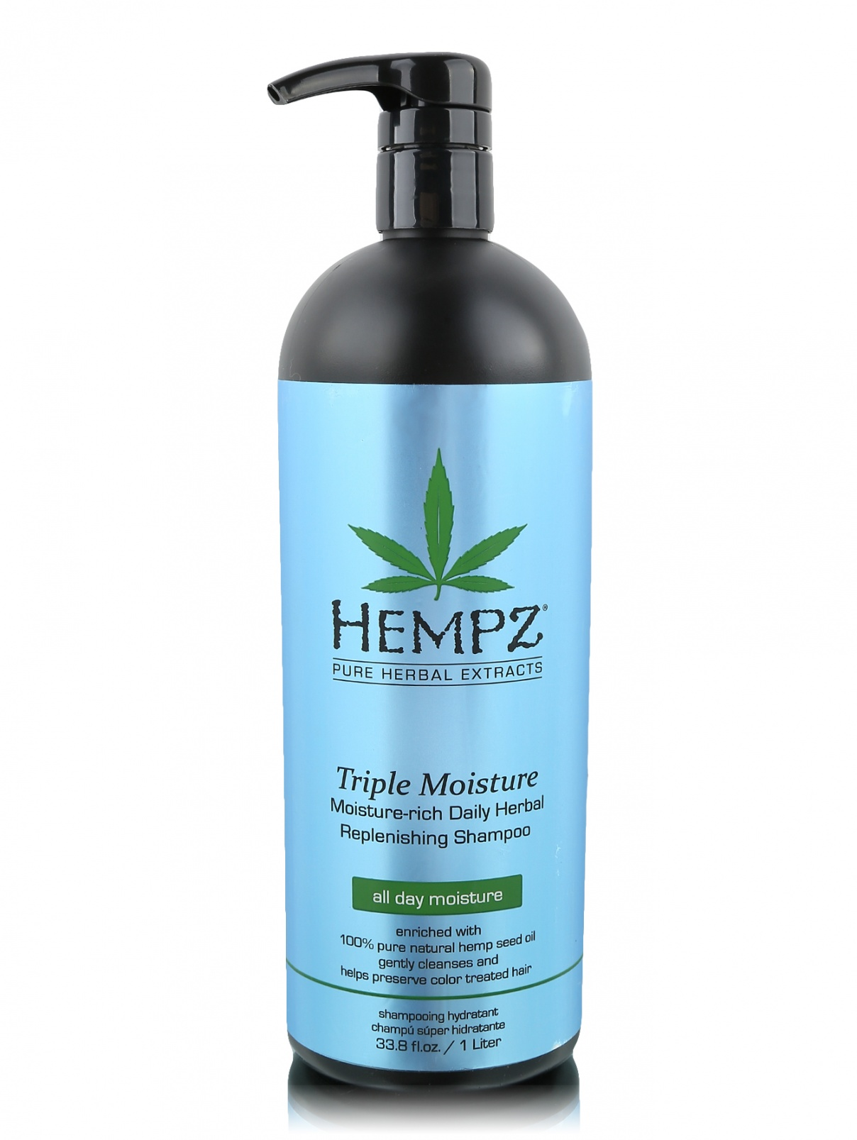 Шампунь 1000 мл Тройное увлажнение Hair Care Hempz  –  Общий вид