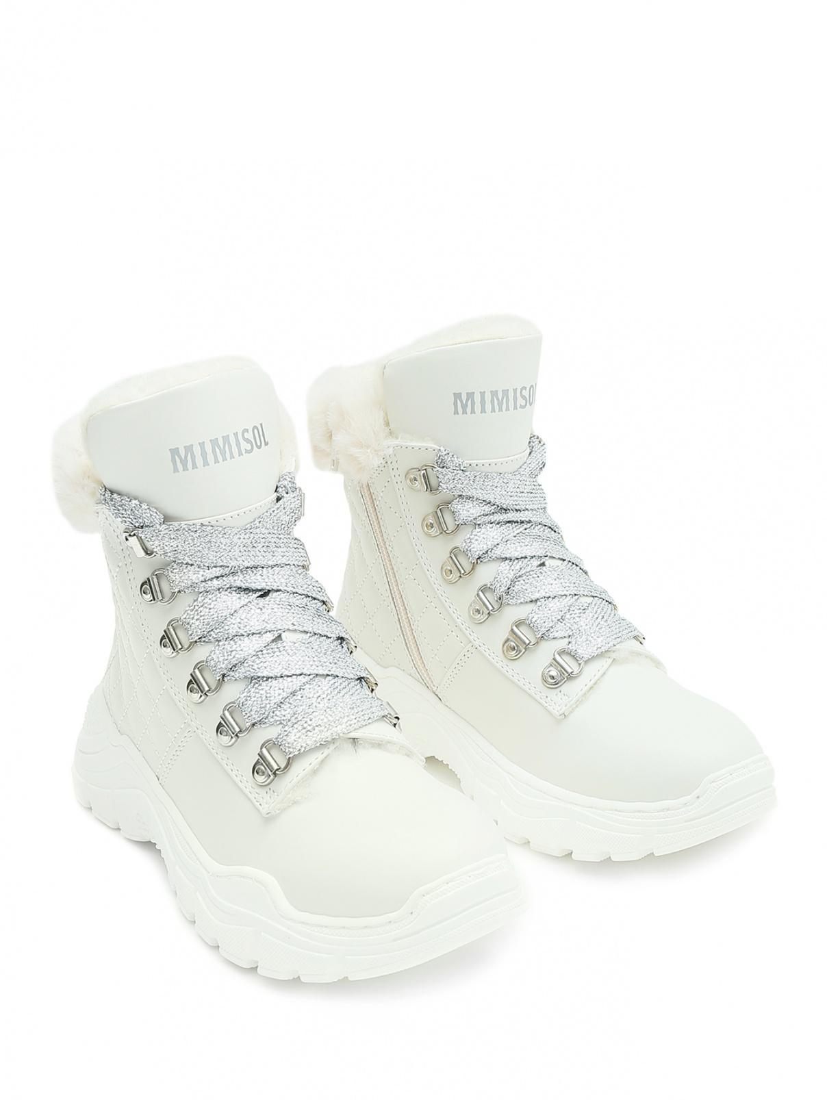 Кожаные ботинки на массивной подошве Mi Mi Sol  –  Общий вид