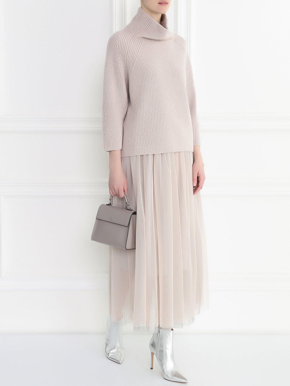 Пышная юбка-миди из нейлона Bruno Manetti  –  Модель Общий вид