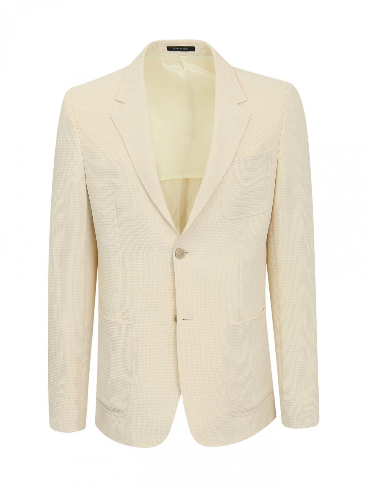 Пиджак однобортный из фактурной ткани Emporio Armani  –  Общий вид