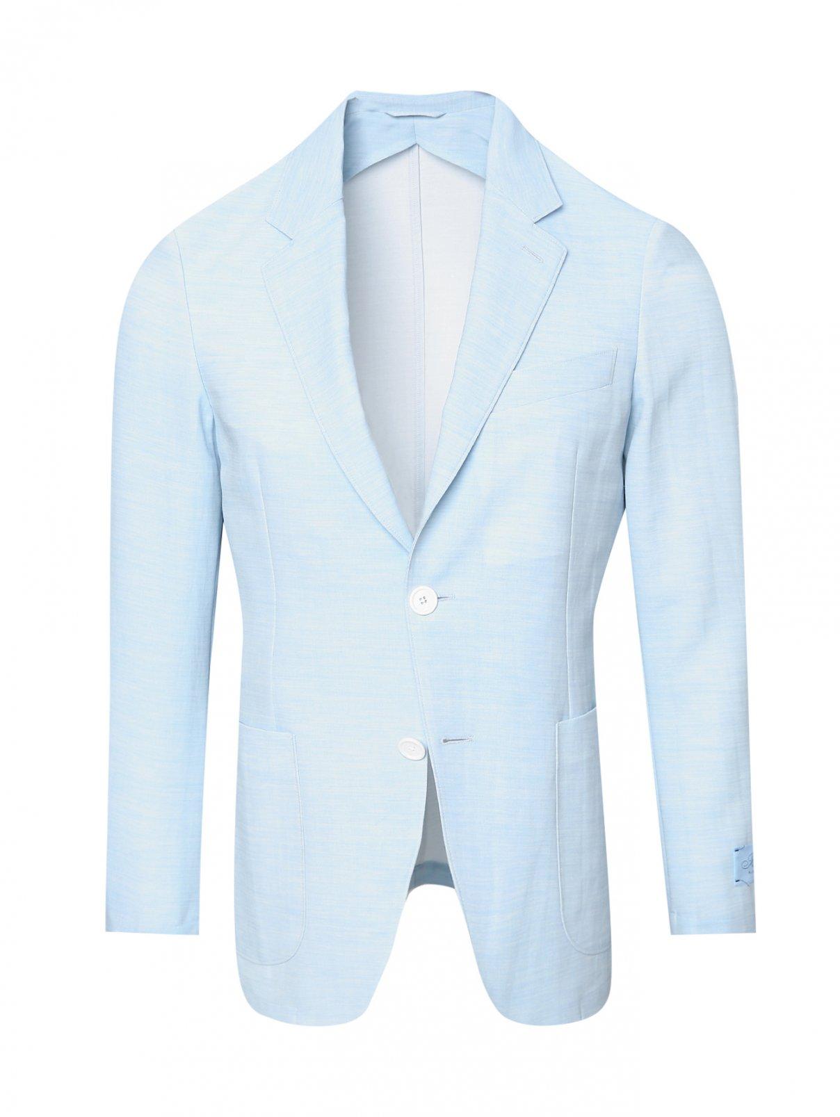 Пиджак из хлопка с накладными карманами Belvest  –  Общий вид